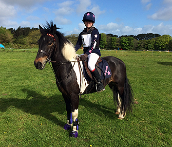 Navy and pink glitter full children's XC set
