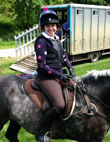 Navy blue ladies rugby xc colours having fun out cross country schooling
