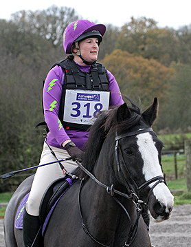 Purple custom XC colours going arena eventing
