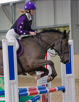 Wearing purple and white XC Colours at first ever event