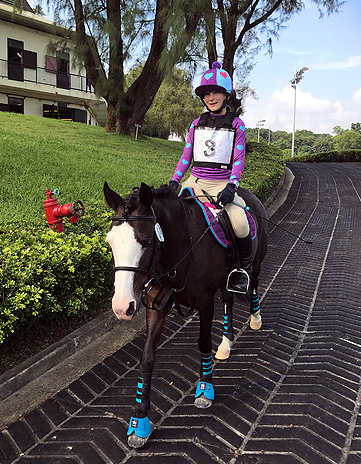 First ODE Hong Kong wearing plum, capri and fuchsia XC Colours.