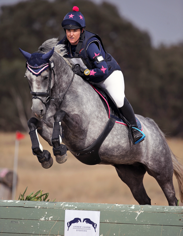 Stephanie loving her XC Colours at first Hunter Trial