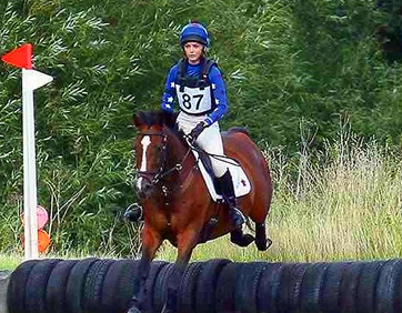 Royal blue XC Baselayer with matching hat cover and saddle cloth
