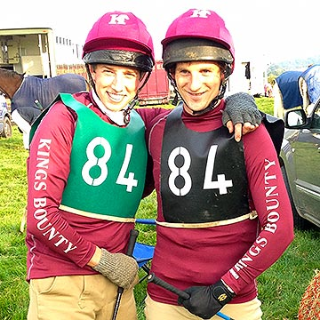 Teammates in bespoke XC Colours with logos