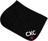 Black saddle cloth, large initials and matching star